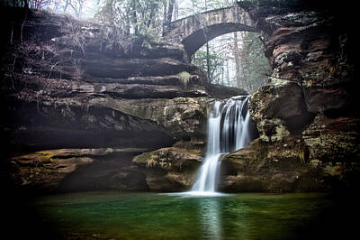 Photograph - Foggy Falls by Daniel Houghton
