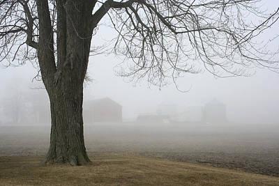 Photograph - Foggy Farm by Kathy Stanczak