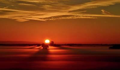 Photograph - Foggy Farmlands Sunrise by Marilyn MacCrakin