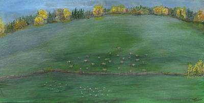 Painting - Foggy Field by Sara Stevenson