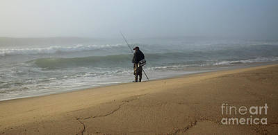 Photograph - Foggy Fisherman by Mary Haber