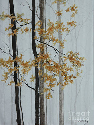 Painting - Foggy Forest by Frank Townsley