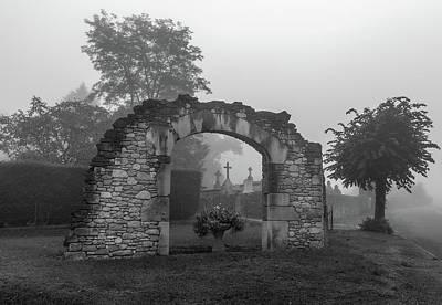 Photograph - Foggy French Graveyard by Georgia Fowler