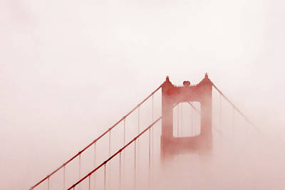 Print featuring the photograph Foggy Golden Gate by Art Block Collections