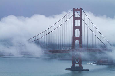 Photograph - Foggy Golden Gate Bridge by Teri Virbickis