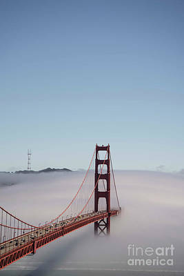 Photograph - Foggy Golden Gate by David Bearden
