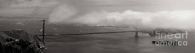 Alcatraz Photograph - Foggy Golden Gate by Matt Tilghman