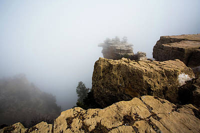 Photograph - Foggy Grand Canyon  by Jerome Obille