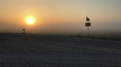Gravel Road Photograph - Foggy Hawkeye Sunrise  by Jame Hayes