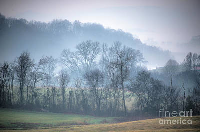 Art Print featuring the photograph Foggy Hills by Wanda Krack