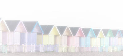 Density Photograph - Foggy Huts by Martin Newman