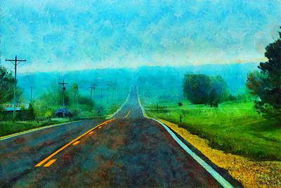 Photograph - Foggy Kansas Highway by Anna Louise