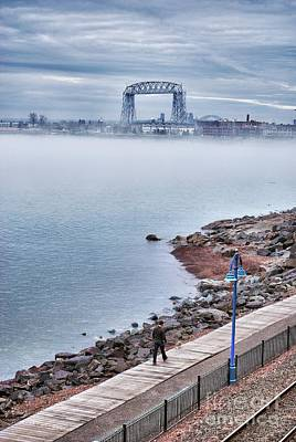 Photograph - Foggy Lake Superior Afternoon by Mark David Zahn