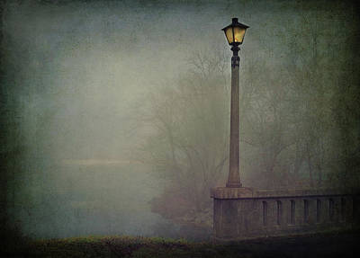 Photograph - Foggy Lampost by William Schmid