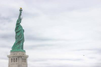 Historic Ship Photograph - Foggy Liberty by Martin Newman