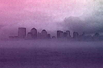 Digital Art - Foggy Manhatten by Keshava Shukla