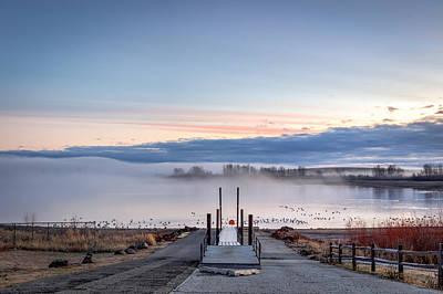 Foggy Mann's Lake Art Print by Brad Stinson