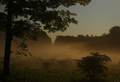 Photograph - Foggy Meadow By Moonlight by John Burk