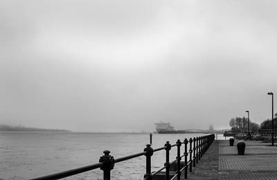 Photograph - Foggy Mersey by Spikey Mouse Photography