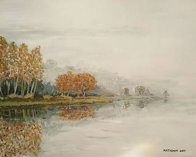 Painting - Foggy Morn At Silver Creek by Vincent Matheney