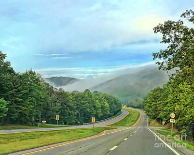 Photograph - Foggy Morning Along The Road by Kerri Farley