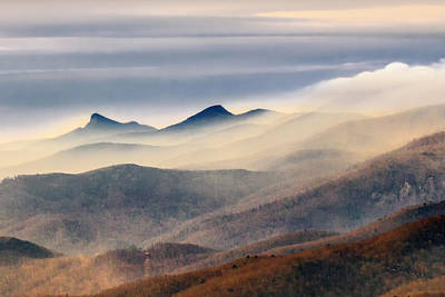 Photograph - Foggy Morning At Hawksbill And Table Rock by Ken Barrett