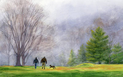 Painting - Foggy Morning At Hixon Forest by Phyllis Martino
