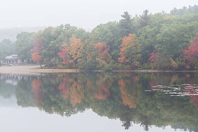 Photograph - Foggy Morning At Houghtons Pond by Brian MacLean