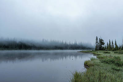 Photograph - Foggy Morning At Reflection Lake by Belinda Greb