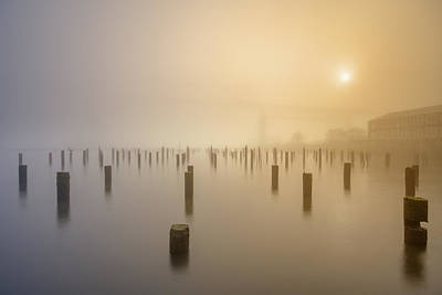 Photograph - Foggy Morning At River Side by William Lee