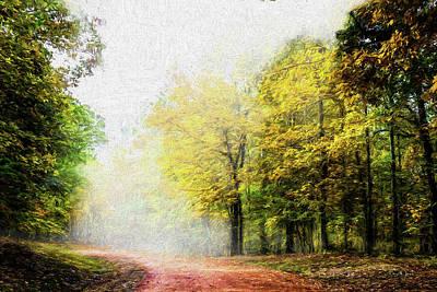 Digital Art - Foggy Morning by Barry Jones