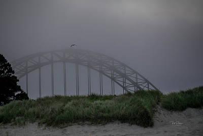 Photograph - Foggy Morning Bridge 7 by Bill Posner