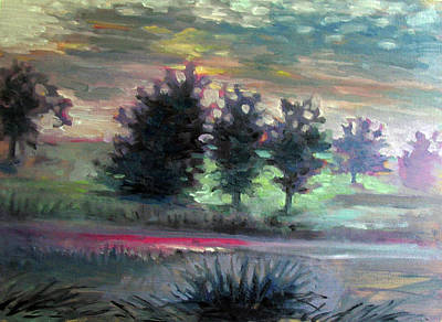 Painting - Foggy Morning Commute by Elaine Hines