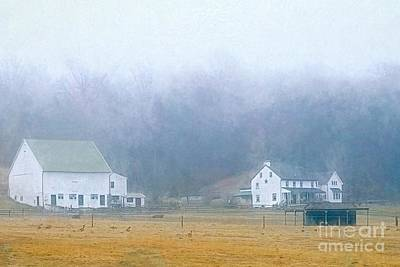 Photograph - Foggy Morning Farm In West Chester, Pa by Polly Peacock