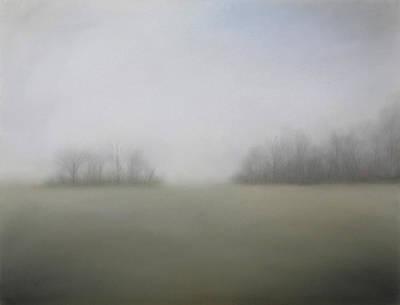 Smokey Mountains Painting - Foggy Morning by Gary Sluzewski