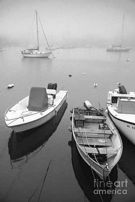 Foggy Morning In Cape Cod Black And White Art Print by Matt Suess