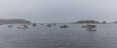 Photograph - Foggy Morning In Cohasset Harbor by Brian MacLean