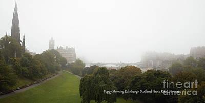 Photograph - Foggy Morning In Edinburgh Scotland by Rita Brown