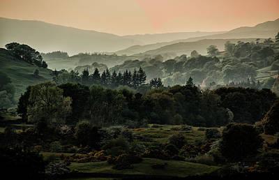 Foggy Morning In Lake District Print by Jaroslaw Blaminsky
