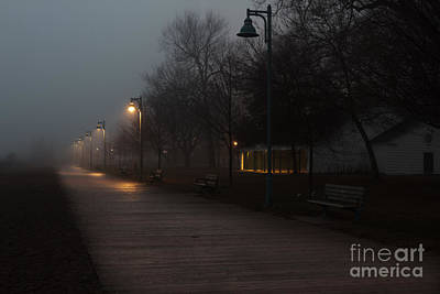 Foggy Morning Kew Beach Art Print