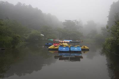 Photograph - Foggy Morning Lake by Masami Iida