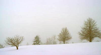 Foggy Morning Landscape 15 Art Print by Steve Ohlsen