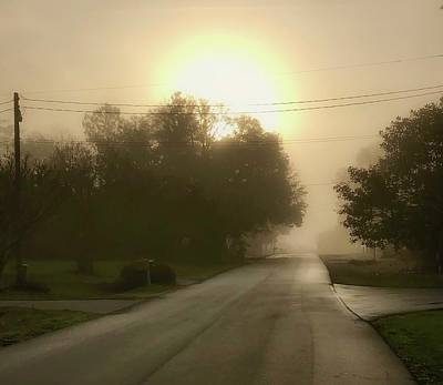 Photograph - Foggy Morning by Mary Hahn Ward