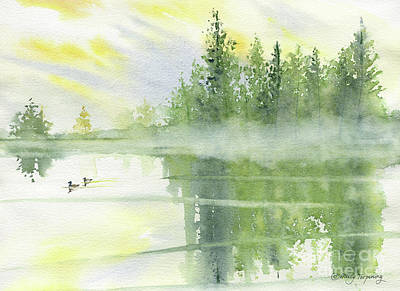 Painting - Foggy Morning by Melly Terpening