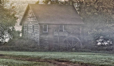 Photograph - Foggy Morning Mill by Richard Bean