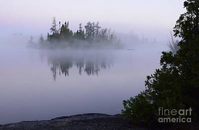 Photograph - Foggy Morning On Little Saganaga Lake by Larry Ricker