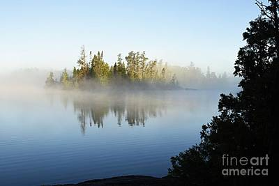 Photograph - Foggy Morning On Little Saganaga by Larry Ricker