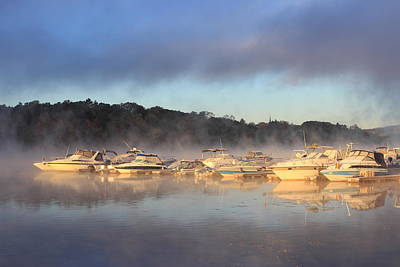 Photograph - Foggy Morning On The Connecticut River At Barton Cove by John Burk
