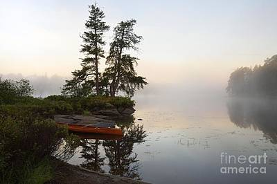 Photograph - Foggy Morning On The Kawishiwi River by Larry Ricker