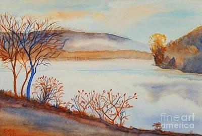 Foggy Morning On The Lievre River Art Print
